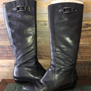 Cole Haan Equestrian leather boots 10B Black